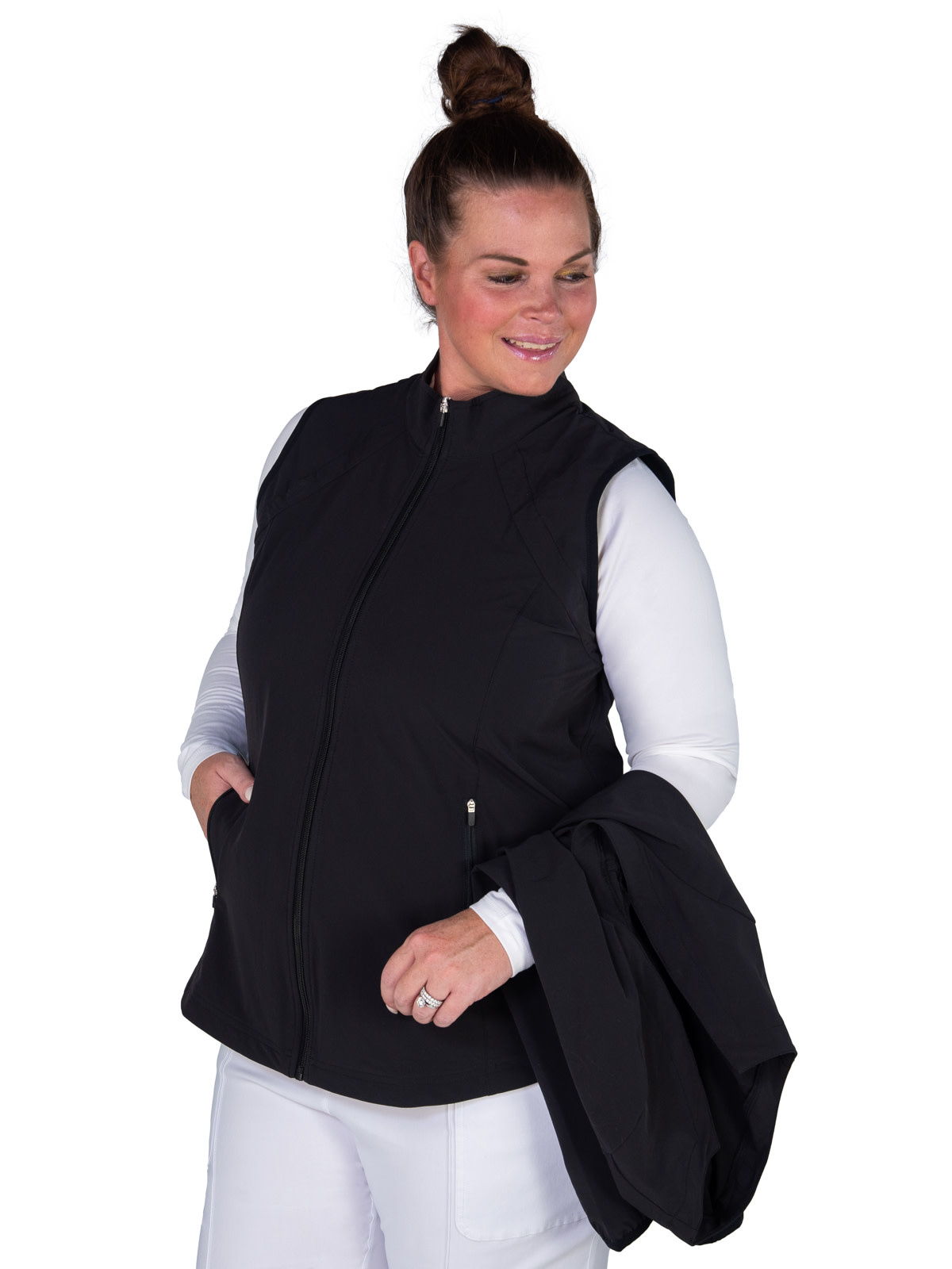Jofit Jofit Wind Jacket w/ Removable Sleeves White