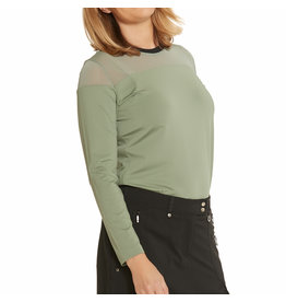 GGblue GGblue Miley Long Sleeve Top Olive-Black