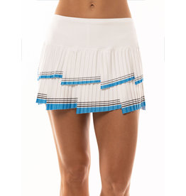 Lucky In Love So Fly Pleated Skirt White