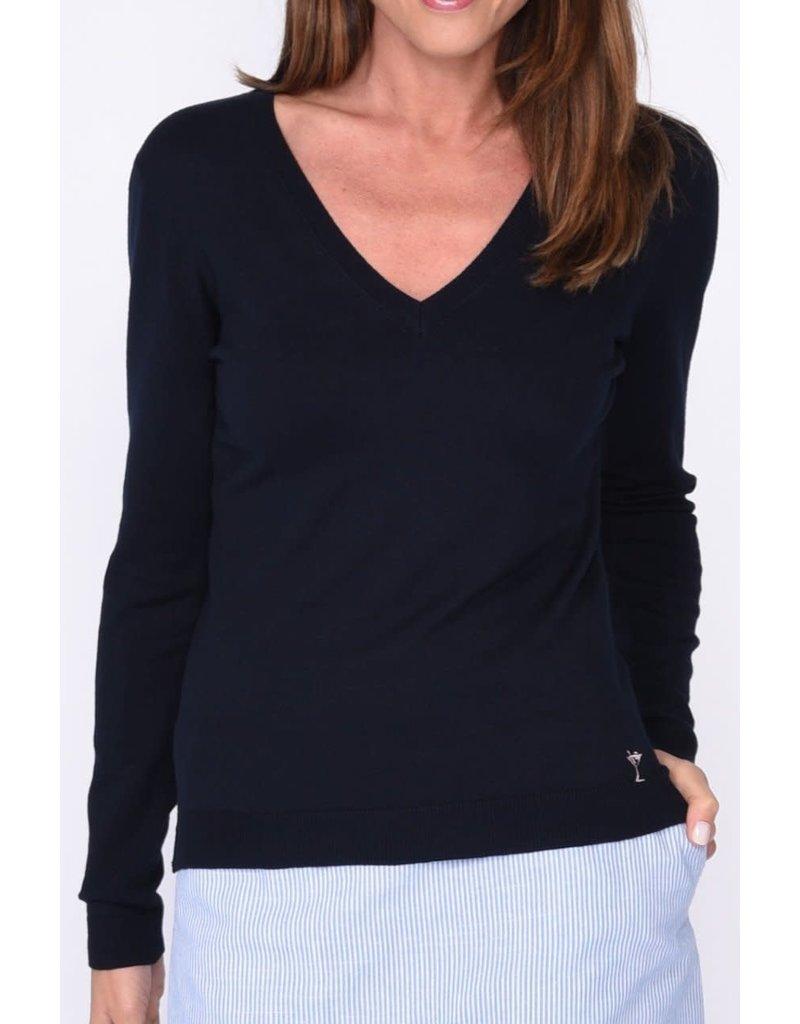 Golftini V-Neck Sweater Navy