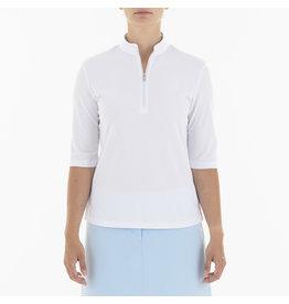Nivo Sport Noa 3/4 Sleeve Mock Polo White