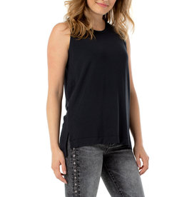 Liverpool Jeans Sleeveless Scoop Neck Tank Black