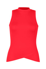 Tail Tennis Marilyn HiLo Mock Neck Tank Teaberry
