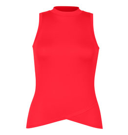Tail Tennis Tail Marilyn HiLo Mock Neck Tank Teaberry