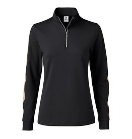 Daily Sports Anna LS Half Neck Black