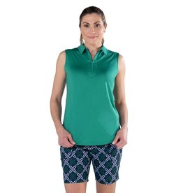 Jofit Sleeveless  Polo Emerald