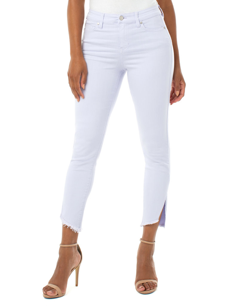 Liverpool Jeans Liverpool Jeans Abby Crop Front Slit Lilac Rose