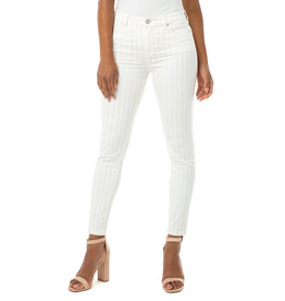 Liverpool Jeans Liverpool Jeans Abby Ankle Skinny Cream/Tan Stripe