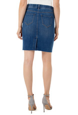 Liverpool Jeans Liverpool Jeans Gia Pull On Cut Hem Skirt Sonnet