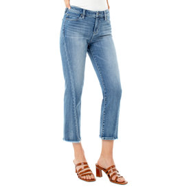 Liverpool Jeans Liverpool Jeans Crop Straight Front Side Seam Damask