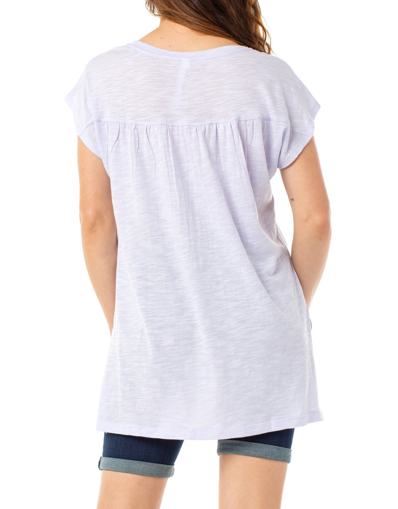 Liverpool Jeans Liverpool Jeans Scoop Neck SS Dolman Lilac Rose
