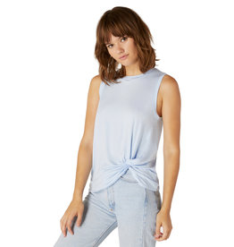 Beyond Yoga Twist Goodbye Tank Blue Bells