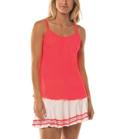 Lucky In Love Lucky In Love Pleated Strappy Cami Coral