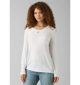 prAna prAna Foundation Long Sleeve Crew White