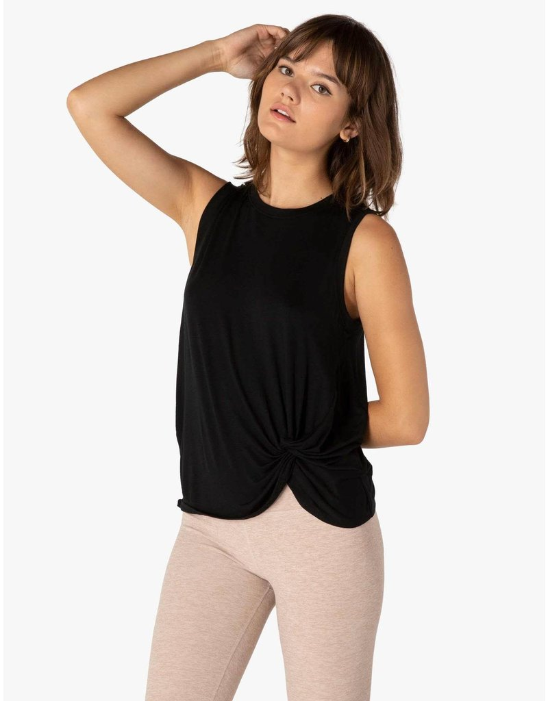 Beyond Yoga Beyond Yoga Twist Goodbye Tank Black