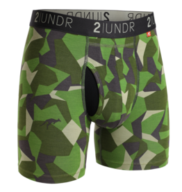 2UNDR 2UNDR Swing Shift Boxer Brief Green Camo