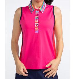 Kinona Kinona Bump & Run Sleeveless Golf Top Flamingo