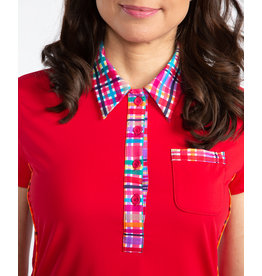 Kinona Kinona Bump & Run Shortsleeve Golf Top Red