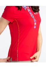 Kinona Kinona Bump & Run Shortsleeve Golf Top Red