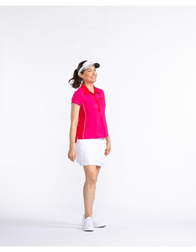 Kinona Kinona Bump & Run Shortsleeve Golf Top Flamingo