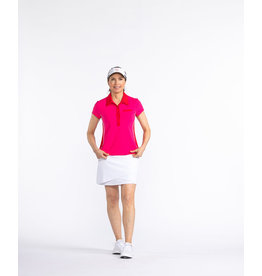 Kinona Kinona Bump & Run Shortsleeve Golf Top Flamingo