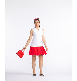 Kinona Kinona Pretty Pleat Golf Skort Red