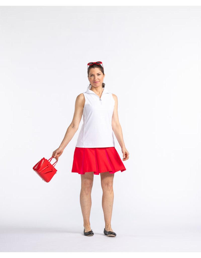 Kinona Kinona Pretty Pleat Golf Skort Red