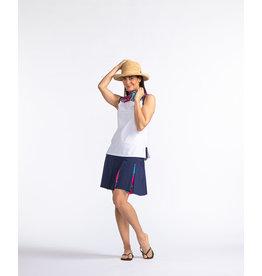 Kinona Kinona Pretty Pleat Golf Skort Navy