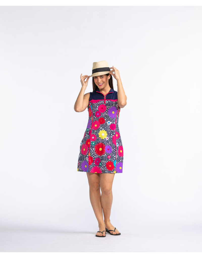 Kinona Kinona Sunny Days Sleeveless Dress Dahlia