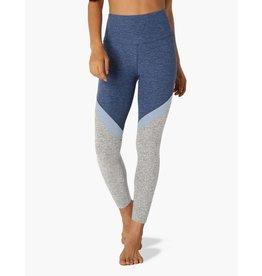 Beyond Yoga Tri-Panel Spacedye High Waisted Midi Legging Serene Blue
