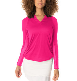 Lucky In Love Chi Chi LS Top Shocking Pink