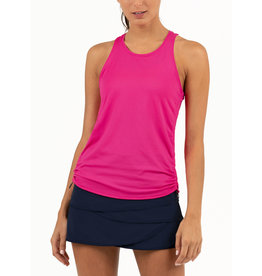 Lucky In Love Airy Cinch Tank Shocking Pink