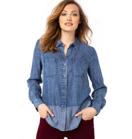 Liverpool Jeans Liverpool Reverse Fabric Block Shirt Flintridge