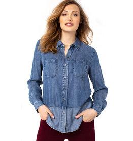 Liverpool Jeans Liverpool Reverse Fabric Block Shirt Flintridge