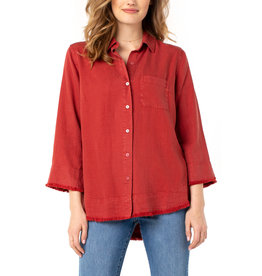 Liverpool Jeans Liverpool Fray Hem Button Up Shirt