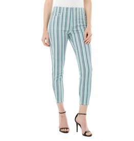 Liverpool Jeans Chloe Pull-On Crop Turquoise Stripe