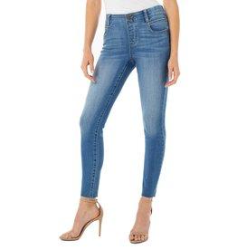 Liverpool Jeans Gia Glider Crop Cut Hem Crosshatch Capetown