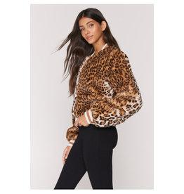 Spiritual Gangster Furry Bomber Jacket Cheetah M