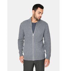 7 Diamonds Yosemite Knit Zip Sweater Charcoal