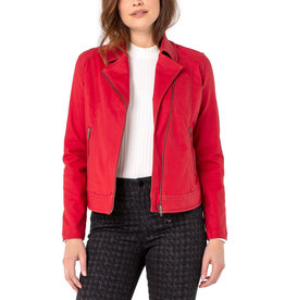Liverpool Jeans Clean Moto Jacket Clean Red