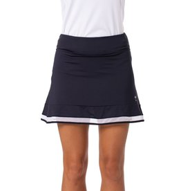 Golftini Top Golf Mesh Trim Ruffle Skort Navy