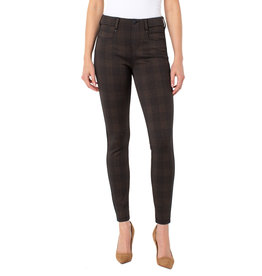"Liverpool Jeans Gia Glider 28"" Copper Blk Plaid"