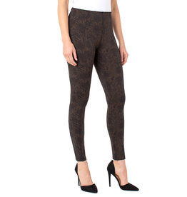 Liverpool Jeans Reese Ankle Legging Copper Blk Python