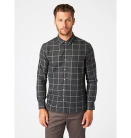 7 Diamonds Wyatt Single Pocket Flannel Shirt Charcoal