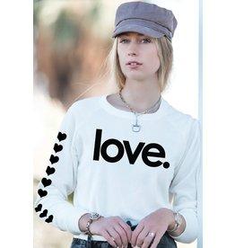 Bird & Vine Los Angeles LS LOVE Fleece White