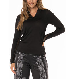 Lucky In Love Chi Chi LS Top Black