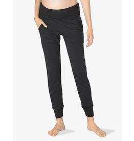 Beyond Yoga Cozy Fleece Foldover Sweatpant Black