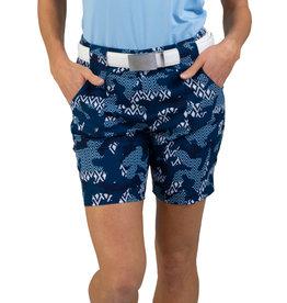 Jofit Belted Golf Short IKat Camo Print