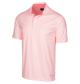 Greg Norman ML75 2 Below Fin Print Polo Peach