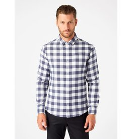 7 Diamonds Sparrow Single Pocket Flannel Shirt Navy
